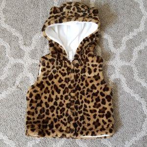 Carter's Leopard Vest. Size 6 months.